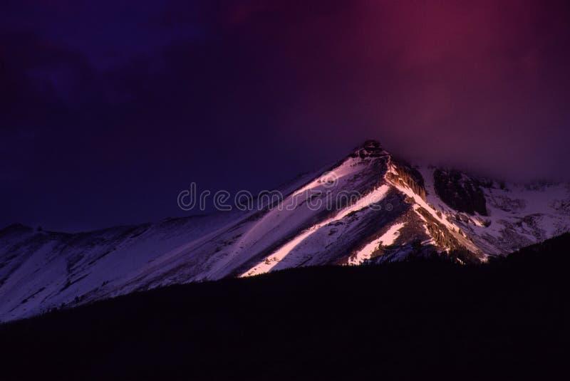 Wilson Peak Glows du Colorado de tellurure avec le lever de soleil léger de premier matin images stock