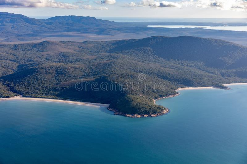 Wilsons Promontory National Park aerial photograph stock photo