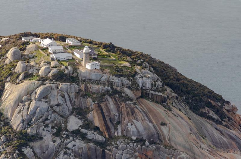 Wilsons Promontory National Park Lighthouse aerial photograph stock photo
