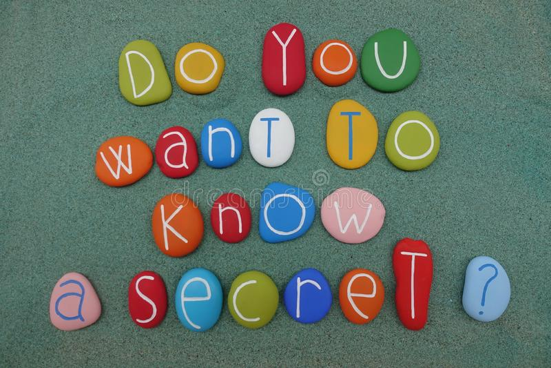 Wilt u een geheim kennen? vector illustratie