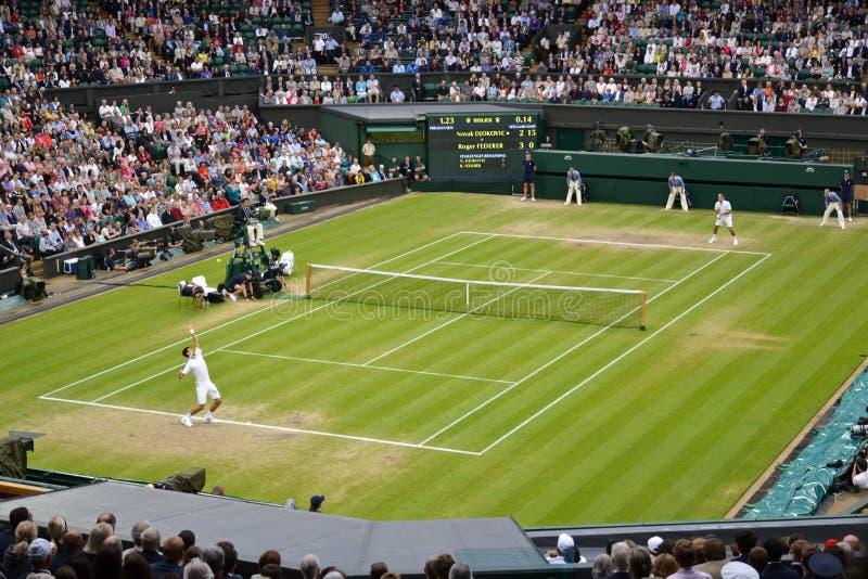 Wimbledon 2012 semi def. van mensen stock foto's
