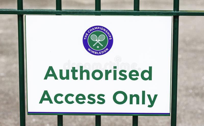 Wimbledon de visita foto de stock