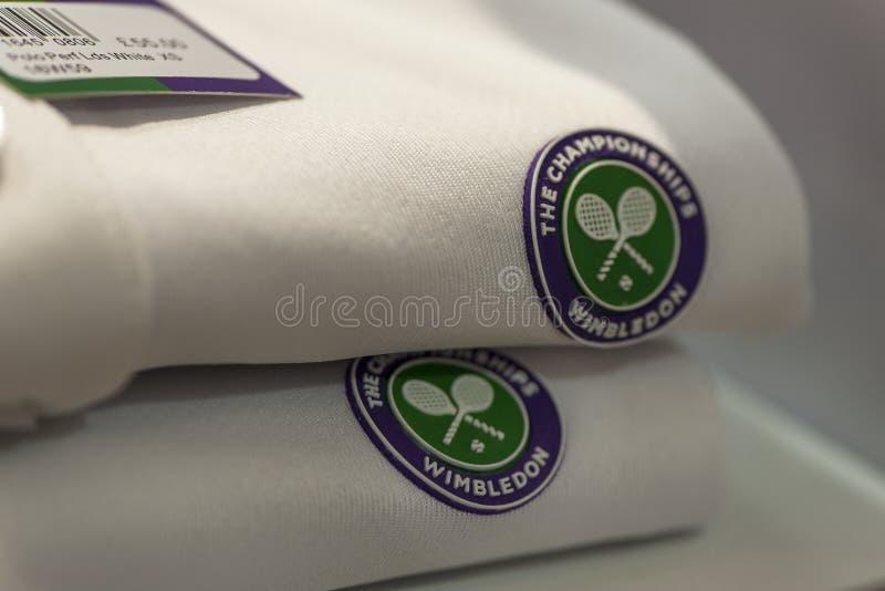 Wimbledon t-skjortor på försäljning royaltyfria foton