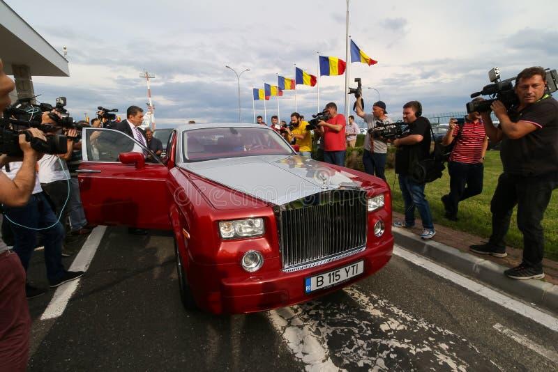 Wimbledon zwycięzca Simona Halep - przyjazd w Rumunia zdjęcia royalty free
