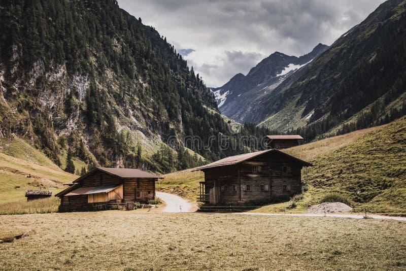 Wimmertal, Austria, piÄ™kna dolina w Gerlos obrazy stock