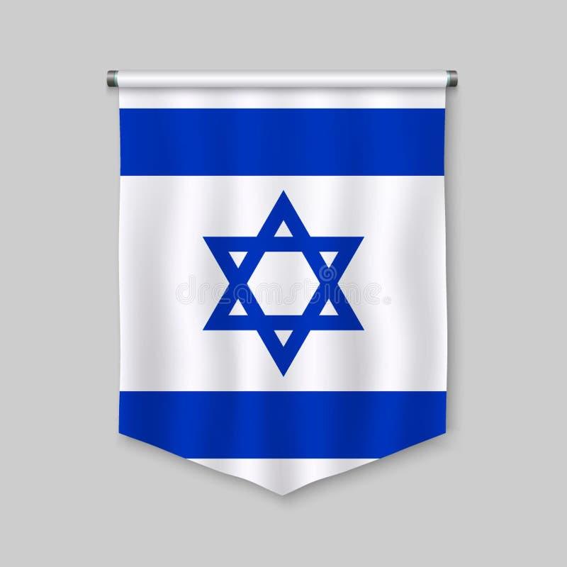 Wimpel met vlag stock illustratie