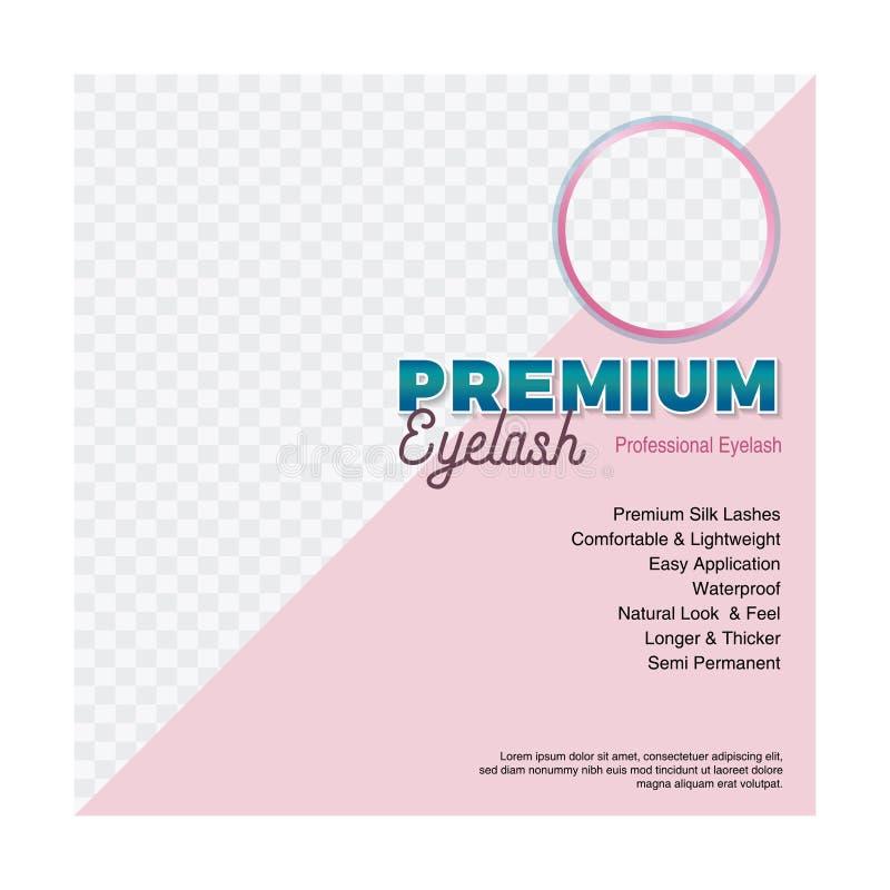 Wimpers de sociale media editable achtergrond van malplaatje vierkante moderne design_image royalty-vrije illustratie