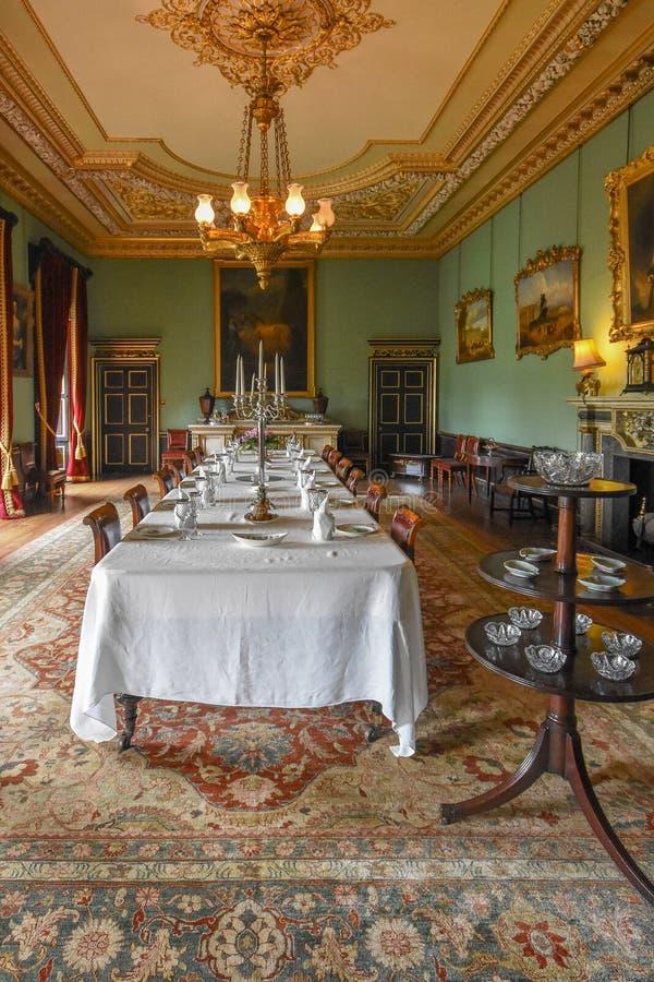 Wimpole霍尔Dinning室 库存图片