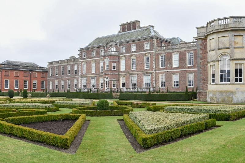 Wimpole Hall и сады стоковое фото rf