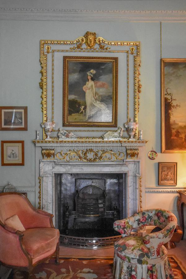 Wimpole Hall Drawing Room photo stock