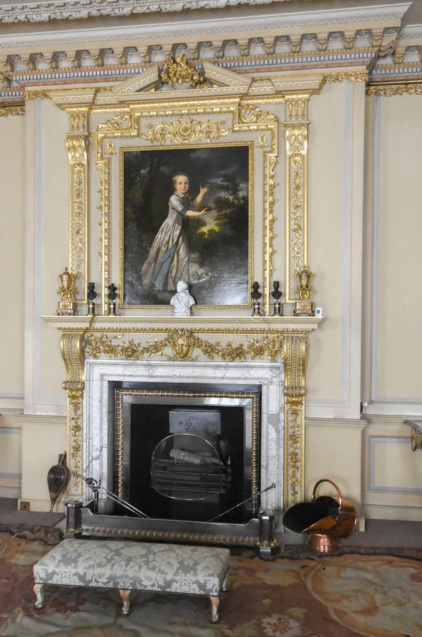 Wimpole Hall Drawing Room imagem de stock