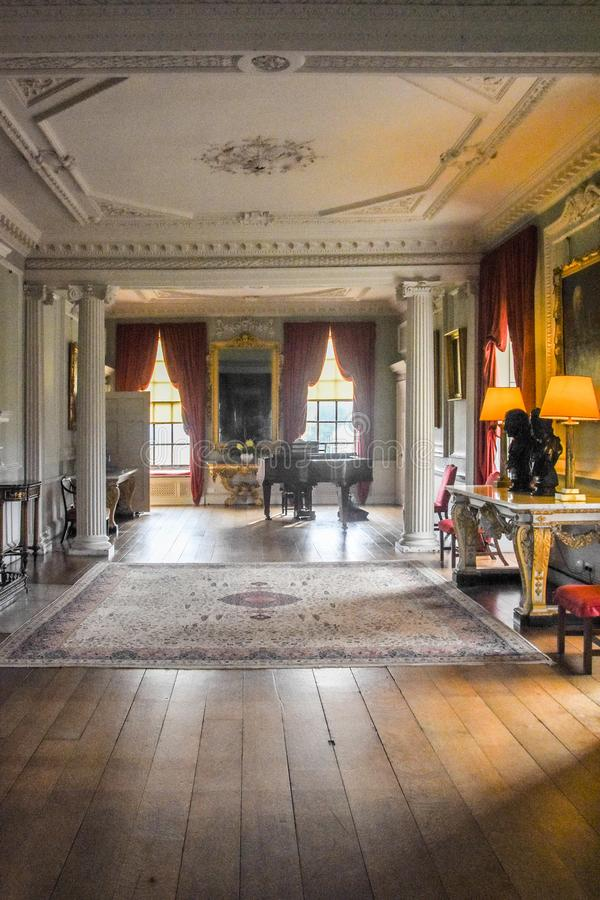Wimpole Hall Long Gallery imagem de stock