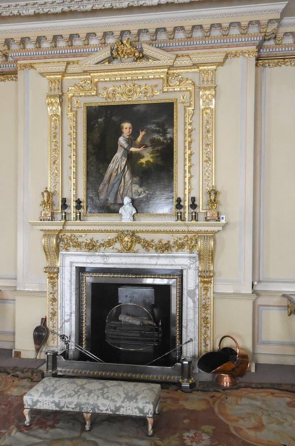Wimpole Hall salon obraz stock