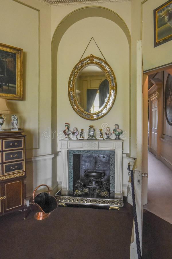 Wimpole Hall Vestibule fotografia de stock royalty free