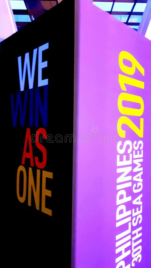 We win as one. Philippines 30th SEA GAMES 2019. We win as one. Philippines 30th SEA GAMES, 2019 stock images