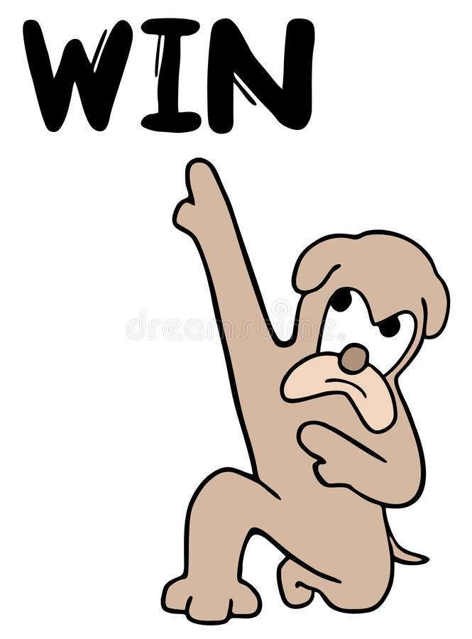 Download Win dog stock vector. Image of merit, banner, drawing - 32037952