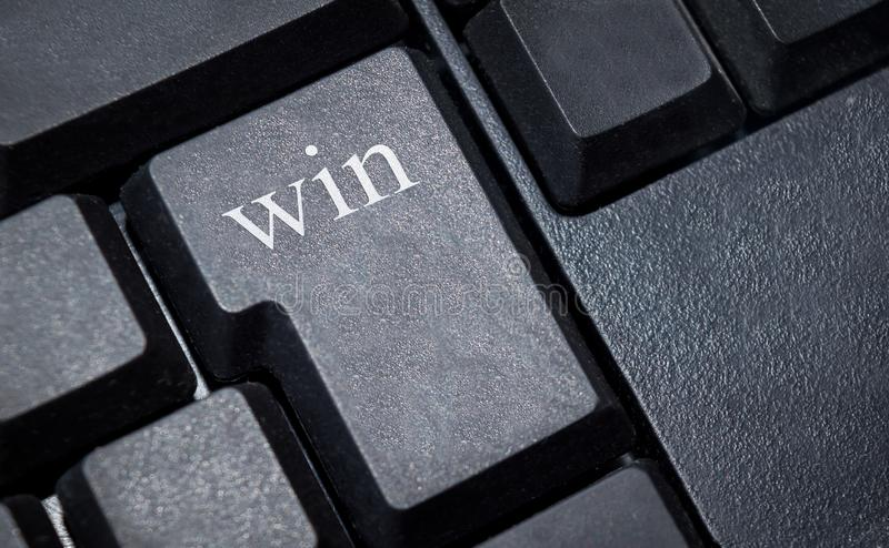 Win letters on pc keyboard royalty free stock images