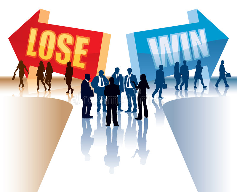 Download Win or lose stock vector. Image of friends, background - 7479098