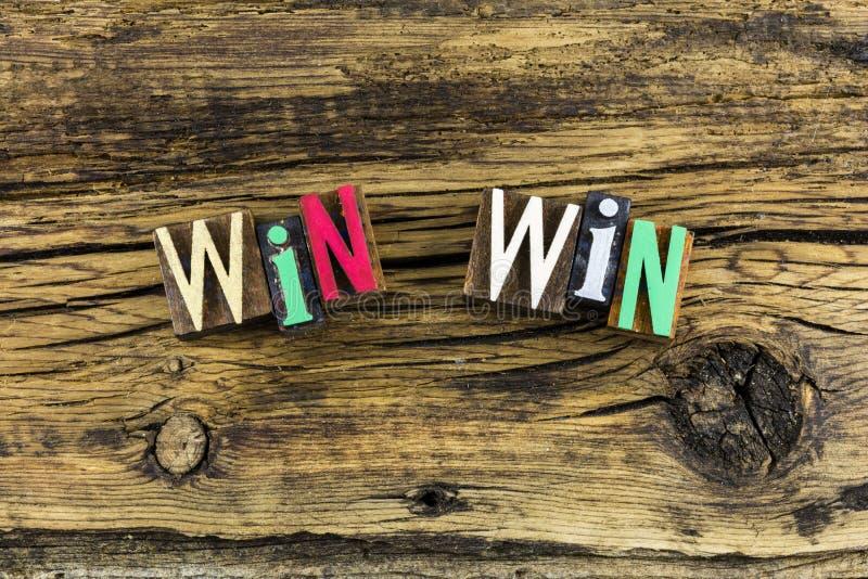 Win win lose strategy letterpress royalty free stock photo