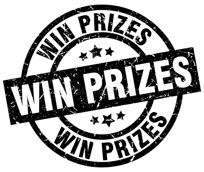 win prizes stamp vector illustration