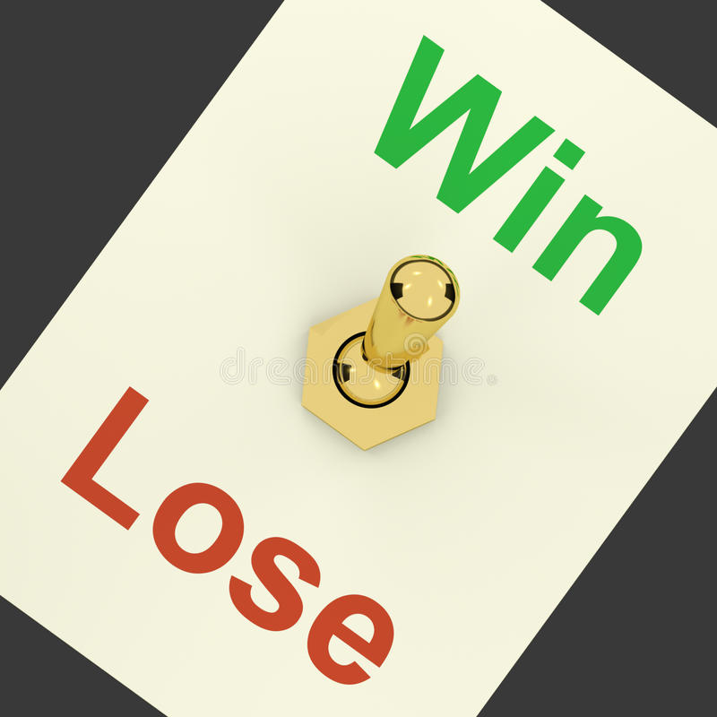 Win Switch On Representing Success And Victory Stock Photo