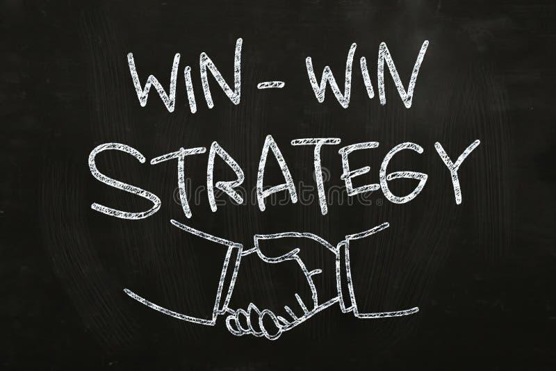 Win-Win στρατηγική διανυσματική απεικόνιση