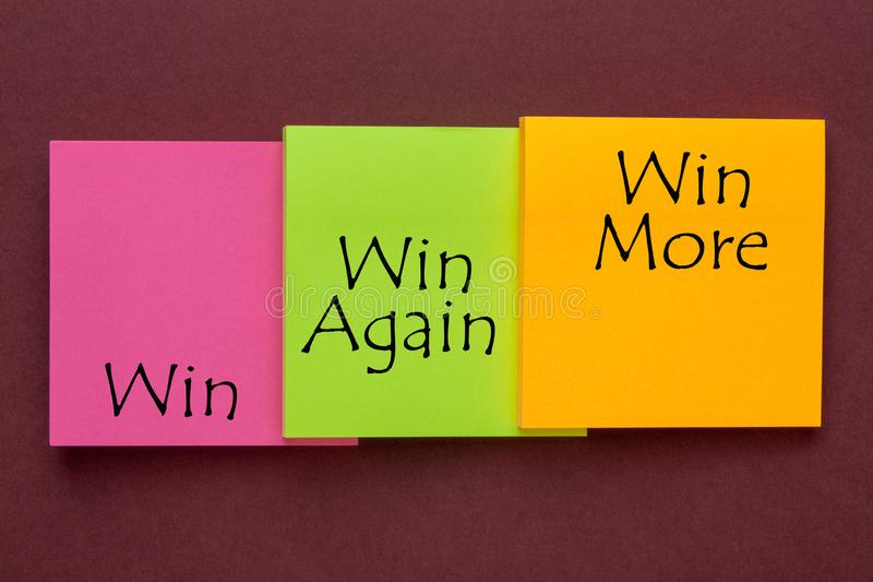 Win, Win Again and Win More royalty free stock photos