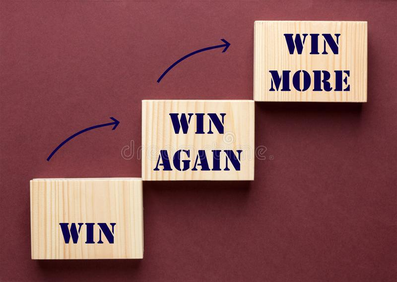 Win, Win Again and Win More royalty free stock images
