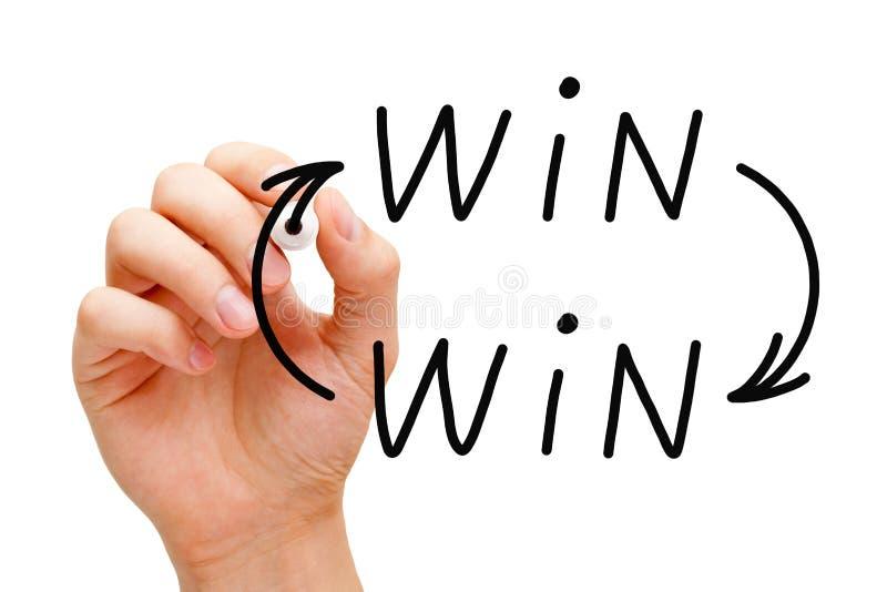 Win-Win Pijlenconcept stock afbeeldingen