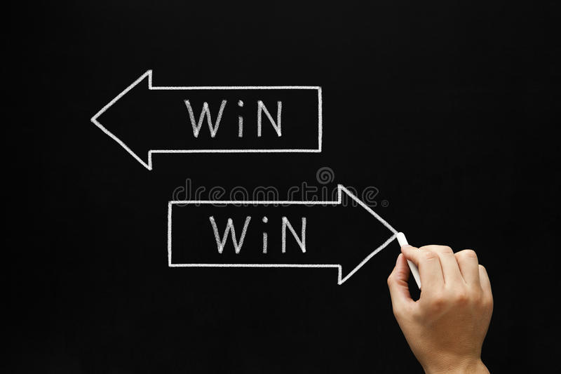Win-Win Situation Concept royalty free stock photo