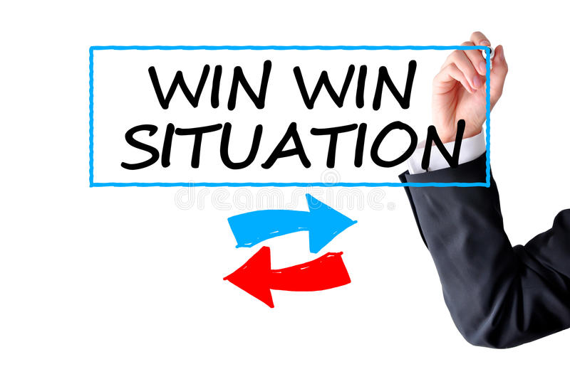 Win win situation stock image