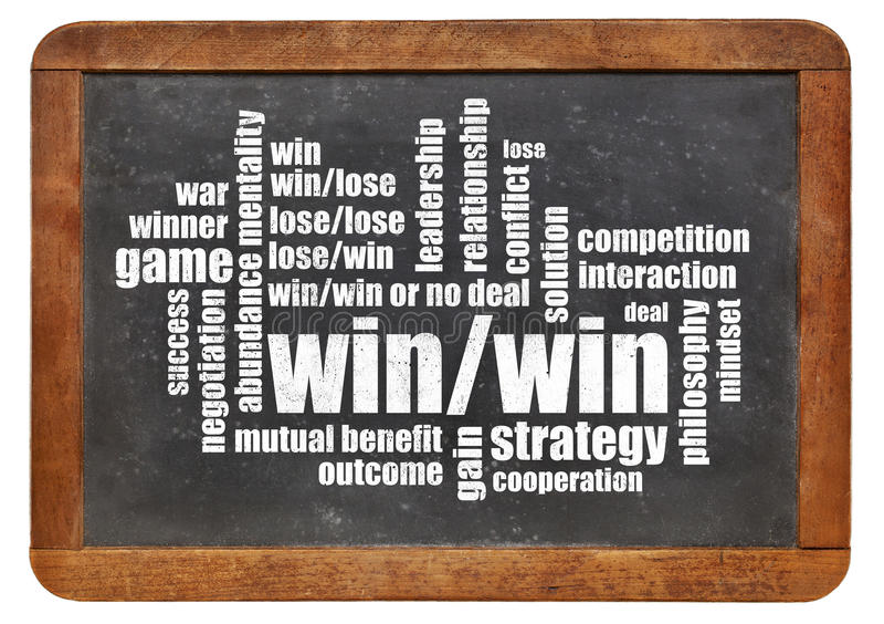 Win-win strategie stock foto's