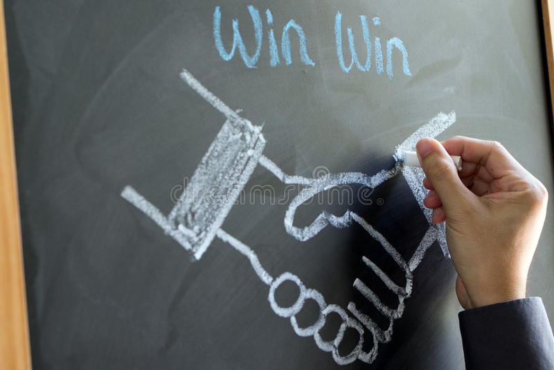 Win win strategy stock photography