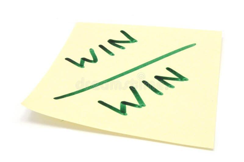 Win winnen strategie royalty-vrije stock foto's