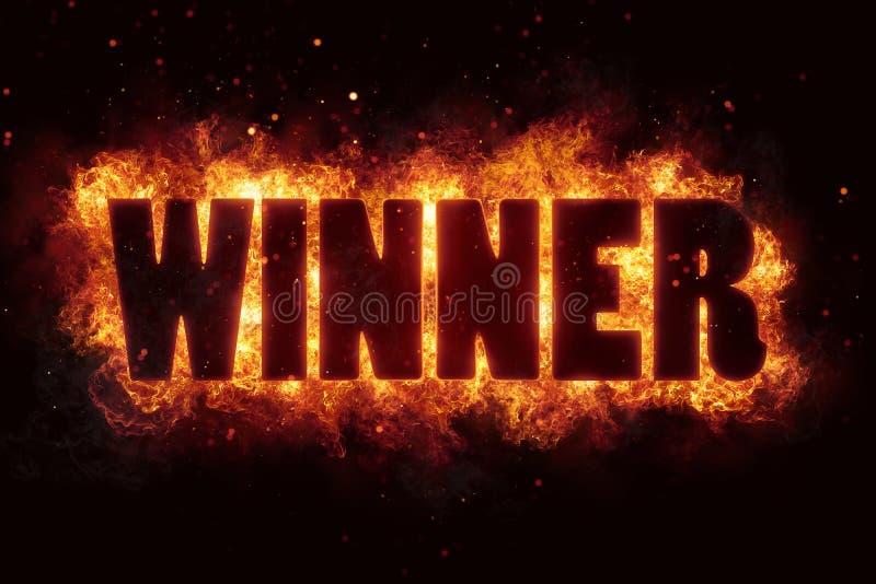 Download Win Winner Game Fire Burn Flame Text Is Explode Stock Illustration - Illustration: 89059138
