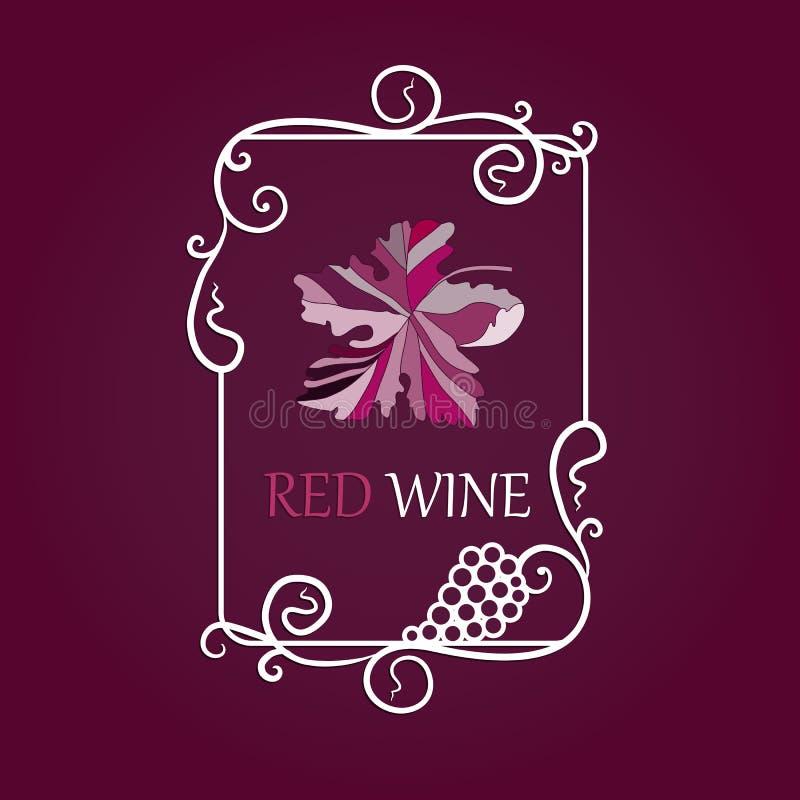 Win winogron etykietki tło zdjęcia stock