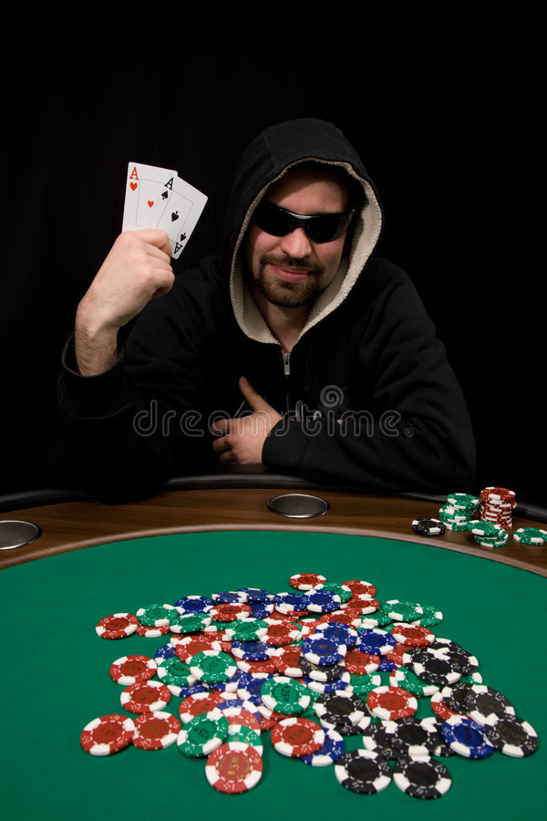 Free Win With Two Aces In Poker Royalty Free Stock Images - 8773049