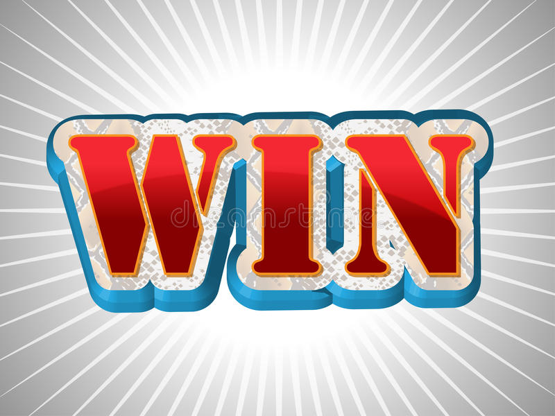 Win write in Big Font Style