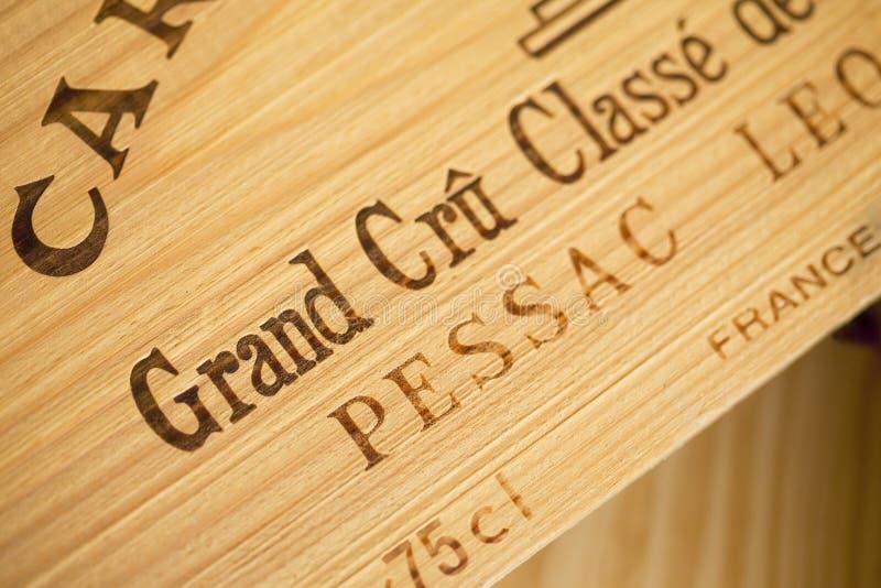Wina drewniany pudełko zdjęcie royalty free