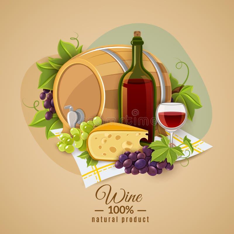 Wina I sera plakat ilustracji