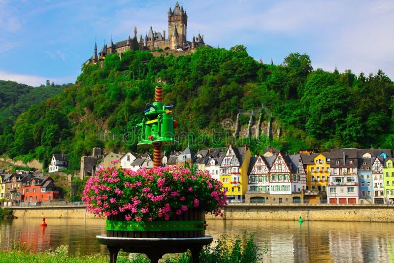 Wina spotkanie z prasą Cochem na Moselle obrazy stock