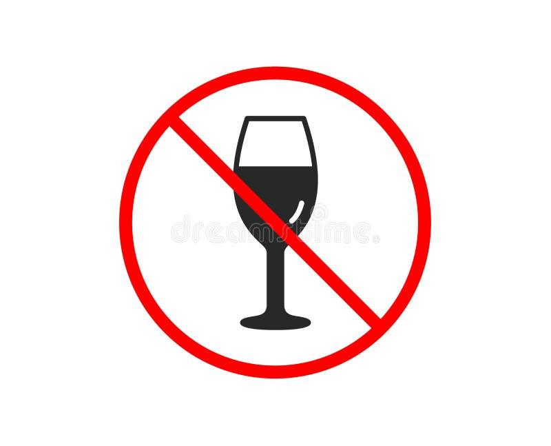 Wina szkła ikona Burgundy szkła znak wektor royalty ilustracja