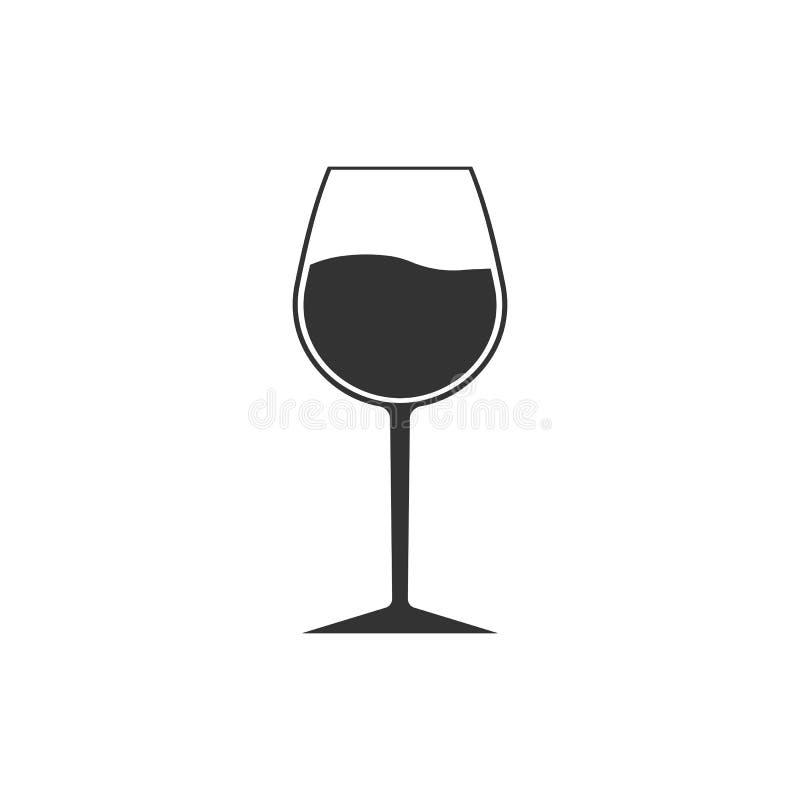 Wina szkła ikona Czara symbol również zwrócić corel ilustracji wektora Płaski projekt royalty ilustracja