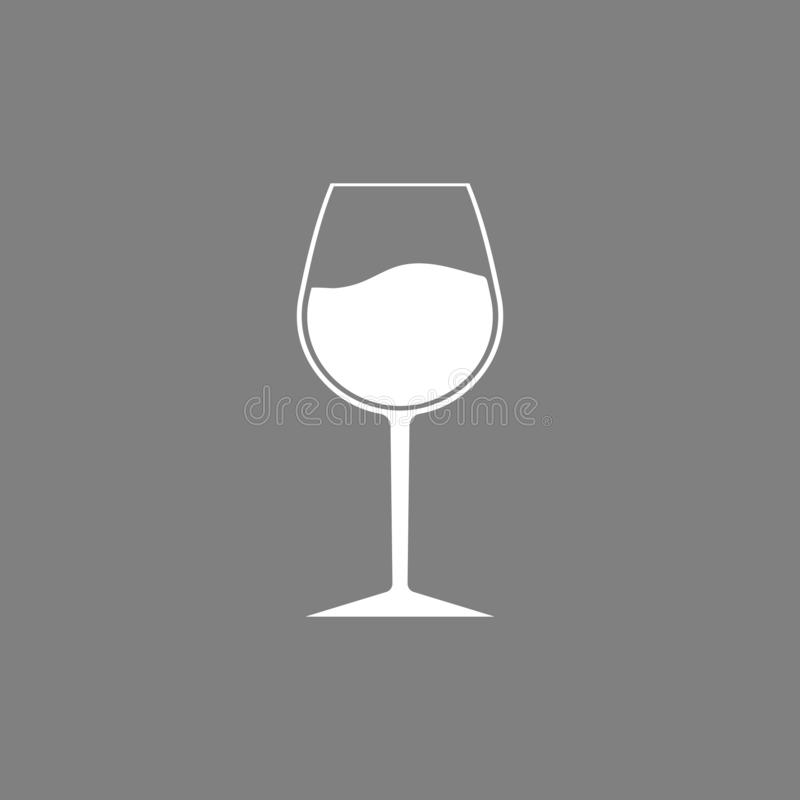 Wina szkła ikona Czara symbol również zwrócić corel ilustracji wektora Płaski projekt ilustracji