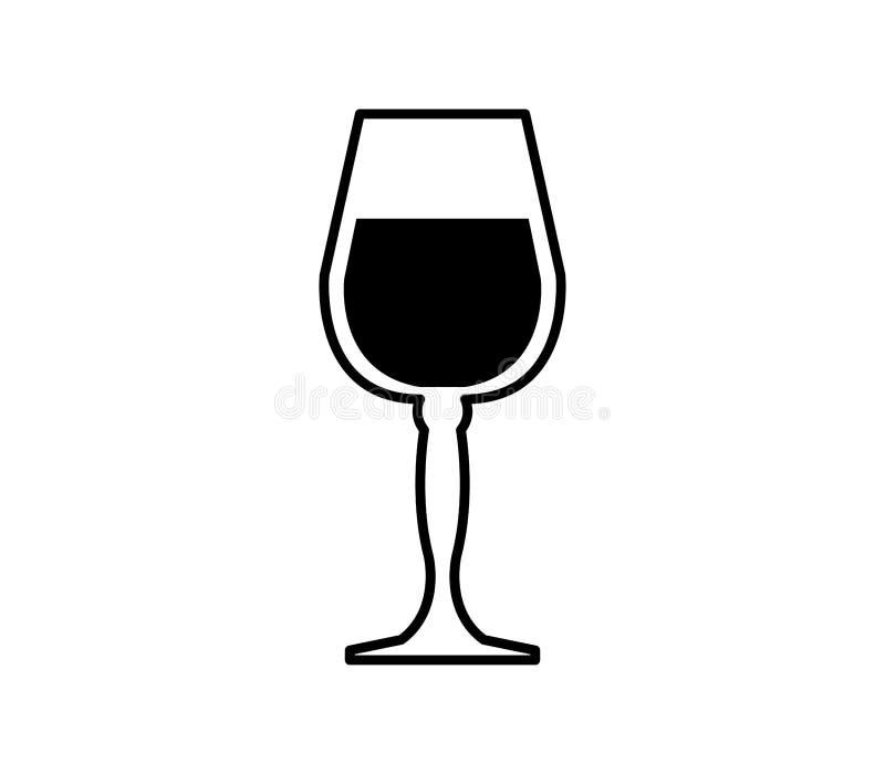 Wina szkła ikona ilustrująca ilustracja wektor