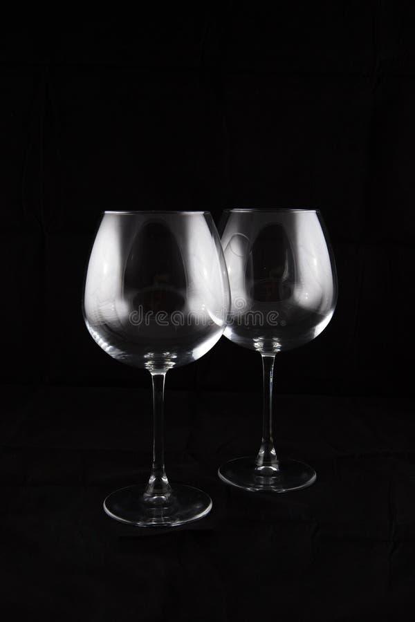 Wina szkła para zdjęcia stock