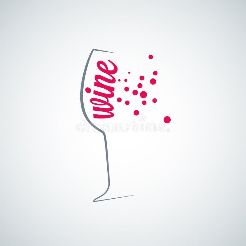 Wina szkła pluśnięcia menu tło ilustracji