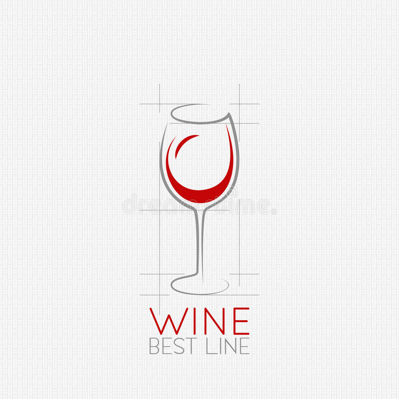 Wina szkła projekta tło ilustracja wektor