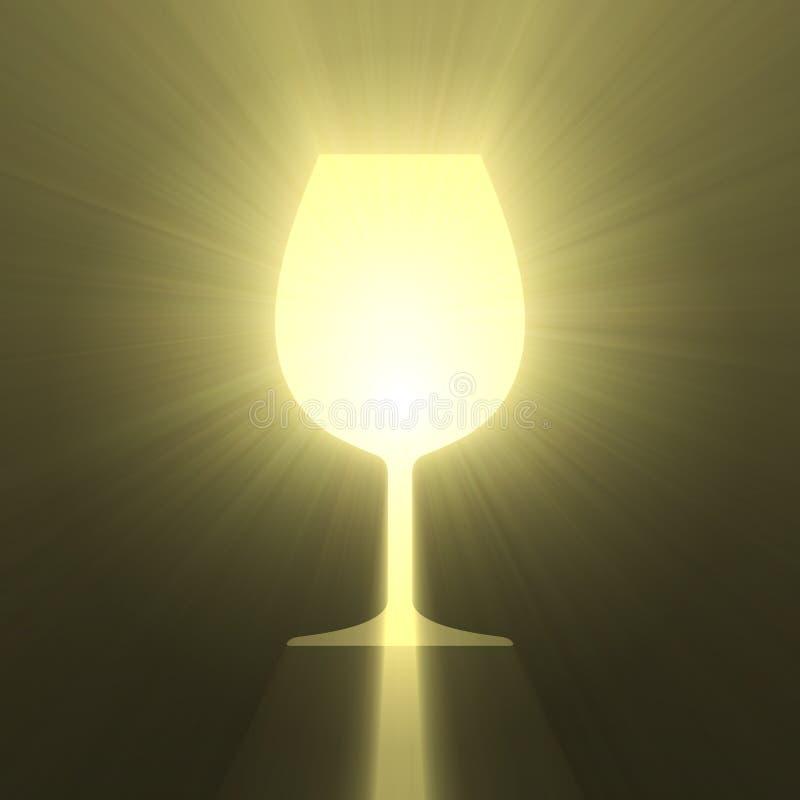 Wina szkła symbolu połysku światła raca royalty ilustracja