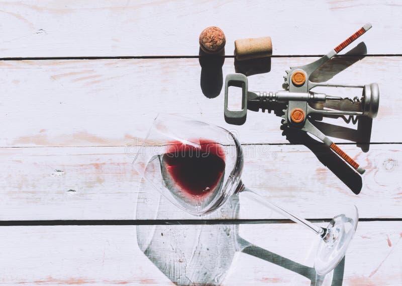 Wina szkło, korek zdjęcia royalty free